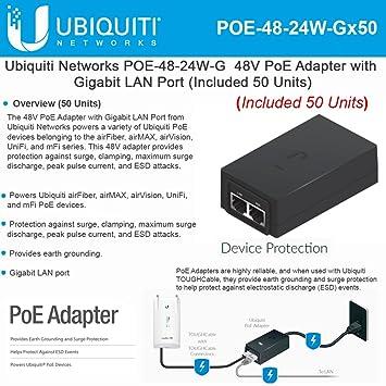 Ubiquiti 48V 24W PoE Adapter 48V 24W PoE Adapter