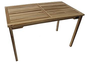 Amazon De Teaktisch Balkontisch Gartentisch 120 X 70 X 75 Cm Tisch