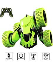 PUZ Toy Presents for 6-12 Year Old Boys RC Stunt Car RC Cars for Kids and Adults 4WD Off Road Truck Remote Control Car 2.4Ghz High Speed 360 Degree Rolling Rotating Birthday Gifts NBC-Green