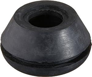 """Hydrofarm HGGR50 (25 Pack), 1/2"""" Rubber Grommet, Black"""