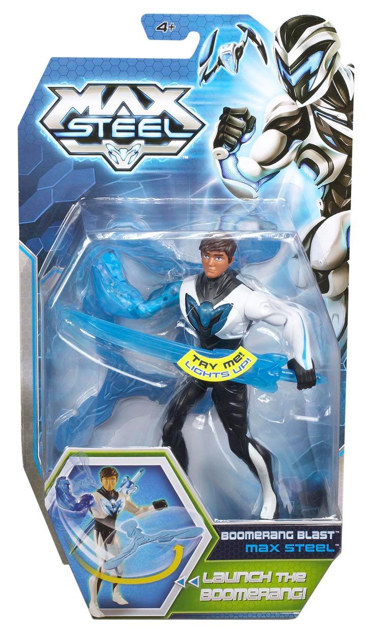Max Steel - Figura de acción, Boomerang Blast (Mattel Y9514): Amazon.es: Juguetes y juegos