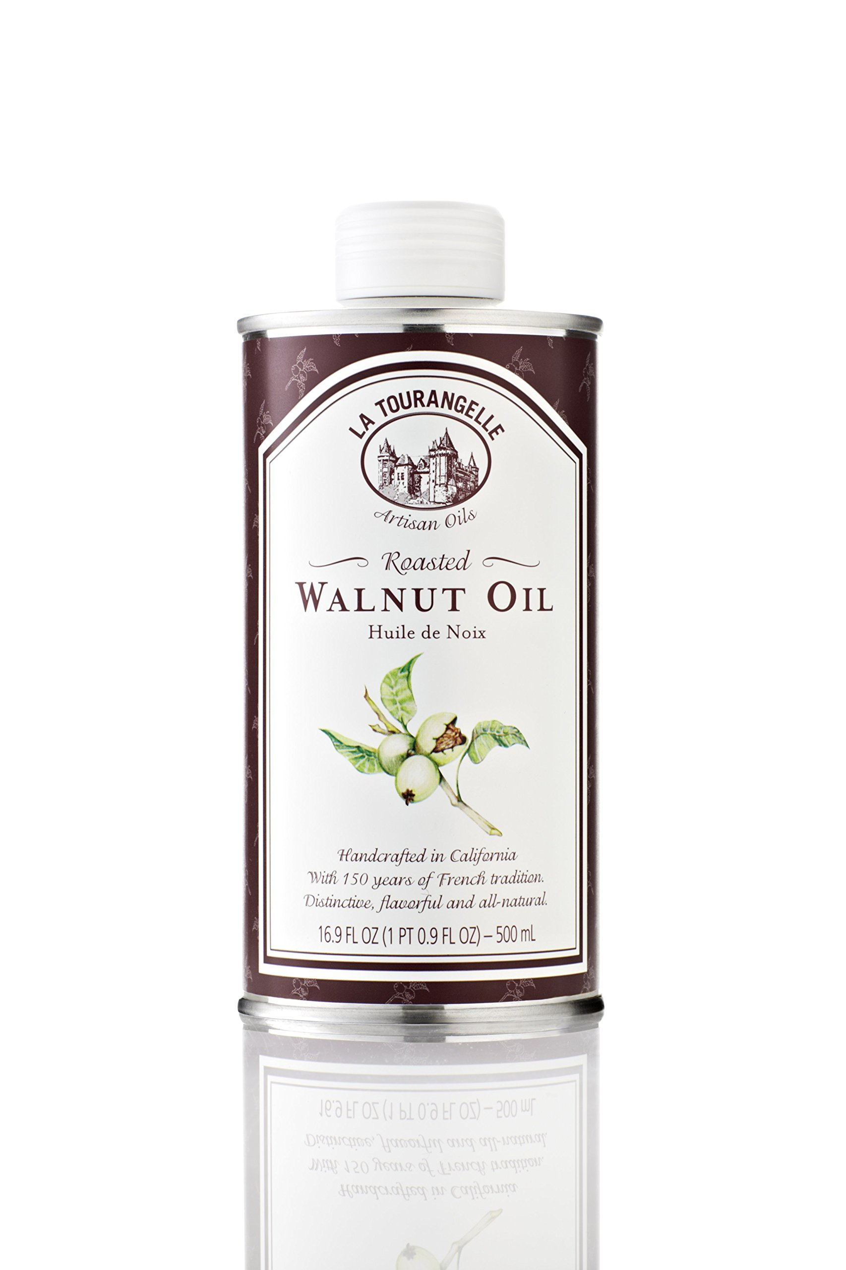 La Tourangelle Roasted Walnut Oil 16.9 Fl. Oz. Cans (Pack of 3), All-Natural, Artisanal, Great for Salads, Grilled Fish and Meat, or Pasta