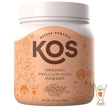 KOS Organic Psyllium Husk Powder | Everyday Fiber Support Psyllium Husk  Powder | Finely Ground for Easy