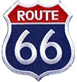 ecusson route 66 biker motard moto usa us thermocollant 7,5x7,5cm patche badge