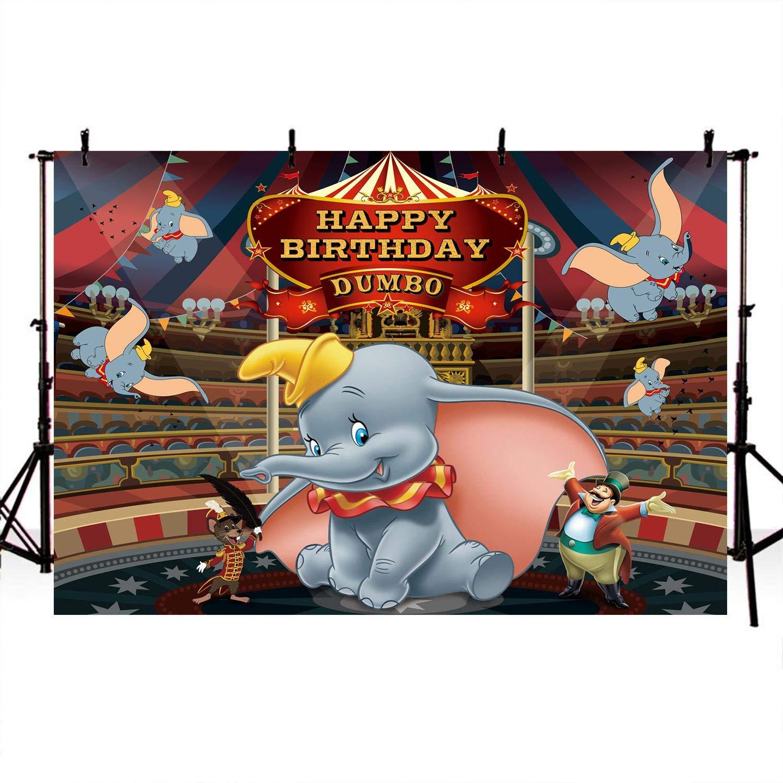Dumbo Baby First Birthday Banner INSTANT DOWNLOAD Dumbo Photo Banner Dumbo Circus Milestone Photo Banner Baby Blue Dumbo Photo Banner DCHM