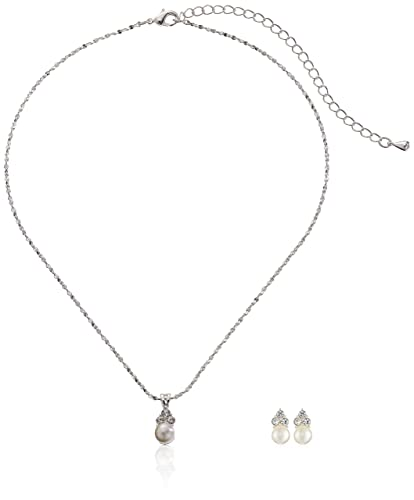 Amazoncom ACCESSORIESFOREVER Bridal Wedding Prom Jewelry Set