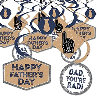 product image for Big Dot of Happiness My Dad is Rad - Father's Day Party Hanging Decor - Party Decoration Swirls - Set of 40