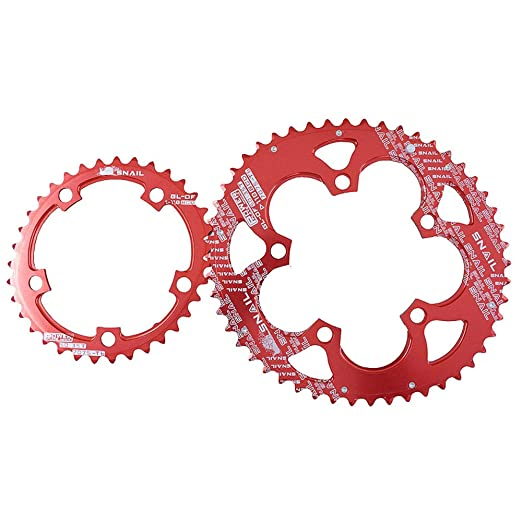 SNAIL Road Bike Double-Oval 50T//35T Chainring 110 BCD Bicycle Chain Ring  9~11S