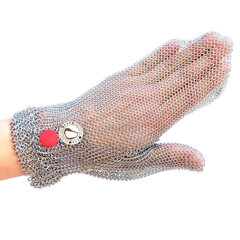 Oysters XO Cut-resistant, Stainless Steel Oyster Shucking Glove, One Size Fits All, easy to clean and dishwasher safe by Oysters XO
