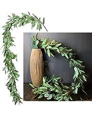 DearHouse Artificial Ivy Vine and Eucalyptus Garland Faux Eucalyptus Leaves Vines