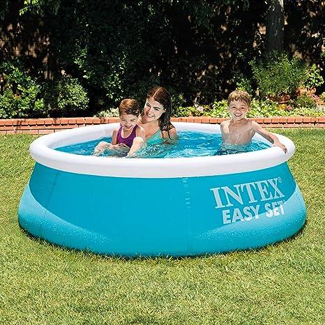 Intex 28101NP Easy Set - Piscina hinchable, 183 x 51 cm, 880 litros: Amazon.es: Jardín