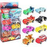 8 a set of lightning McQueen car toy car model plastic recycling car.
