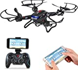 Holy Stone F181W WiFi FPV Drone with 720P Wide Angle HD Camera RC Quadcopter with Altitude Hold, Gravity Sensor Function, Easy Fly for Beginner, Compatible with VR Headset, Bonus Battery Included