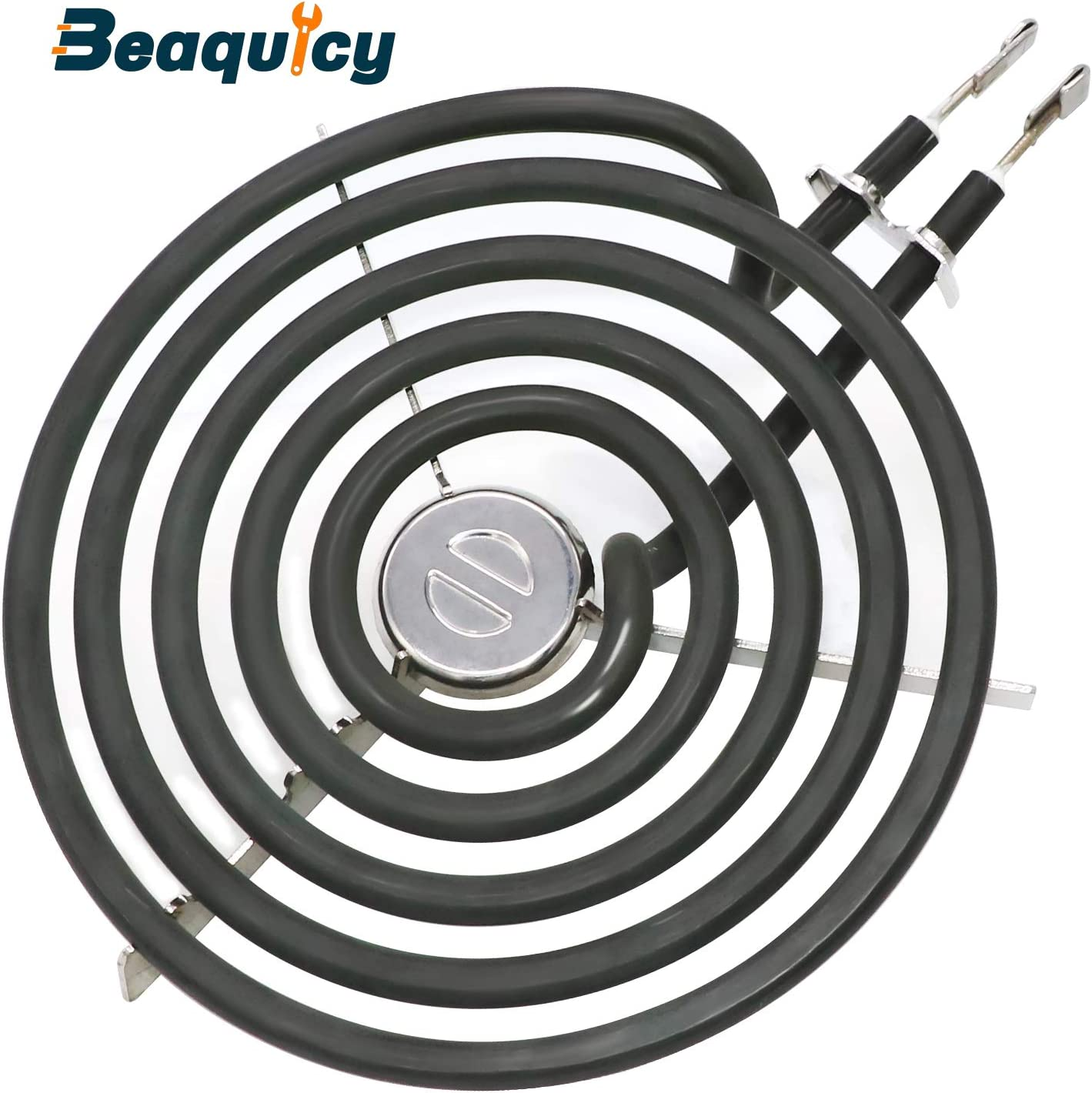 """WB30M1 Stove Burner Surface Element 6"""" 5 Turns by Beaquicy - Replacement for Kenmore GE Hotpoint Electric Range Burner"""