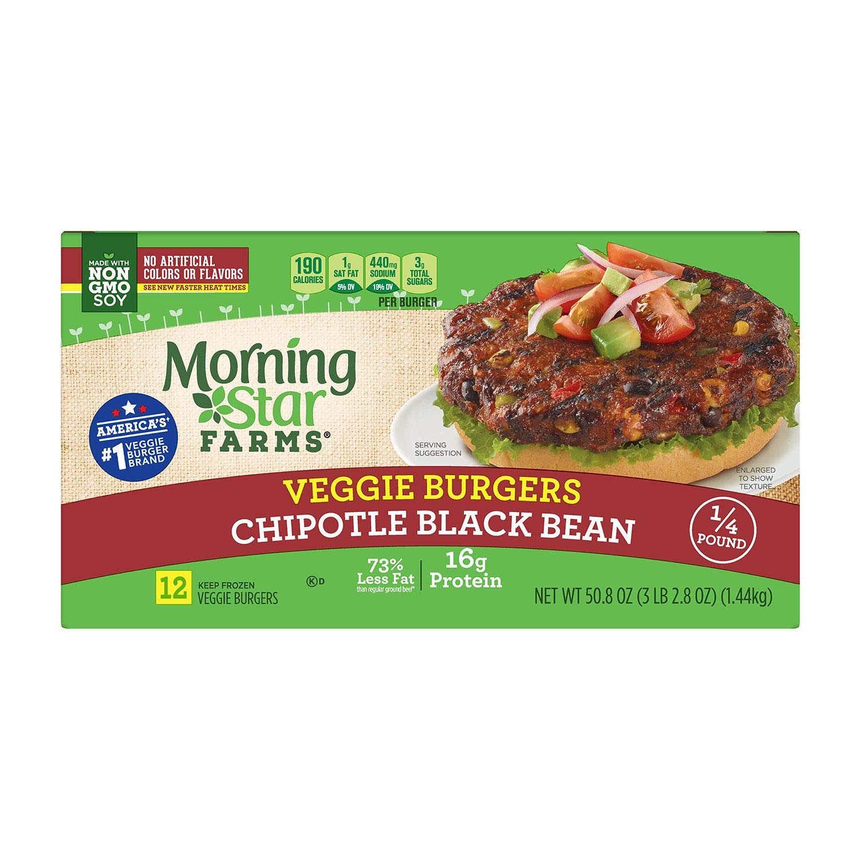 Amazon Com Morningstar Farms Chipotle Black Bean Burger 3 15 Lb Grocery Gourmet Food