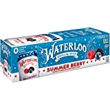 Waterloo Sparkling Water, Summer Berry Naturally Flavored, 12 Fl Oz Cans, Pack of 12 | Zero Calories | Zero Sugar or Artifici