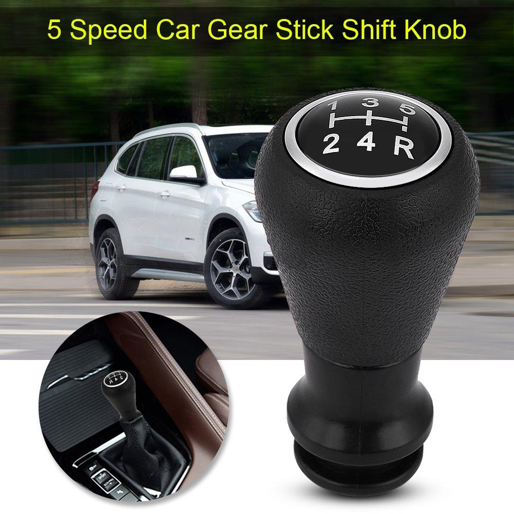 Auto 5/velocit/à Gear stick pomello testa pomello del cambio manuale cambio con livello nero