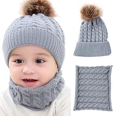 XingYue Direct Monos Bufanda Bufandas Gorro cálido bebé recién ...