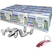 Bricolemar IBILI - Caja de 120 Cargas para sifon de Nata Ibili Kabra (12 Paquetes de 10 Cargadores)
