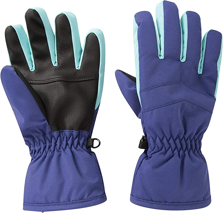 Mountain Warehouse Boys Gloves Convertible and Fleece Fabric Provides Comfort