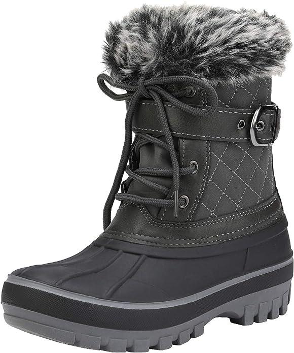 Insulated Toddler//Little Kid//Big Kid DREAM PAIRS Unisex Kids Winter Snow Boots