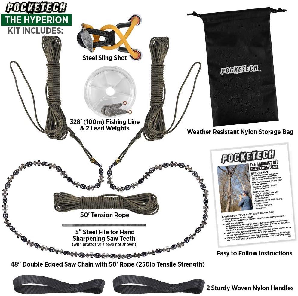 Pocketech Die Hyperion Kit 48 Inch lang hoch Limb Hand Kettens/äge so It Does not Matter Wie es Lands Klingen auf beiden Seiten