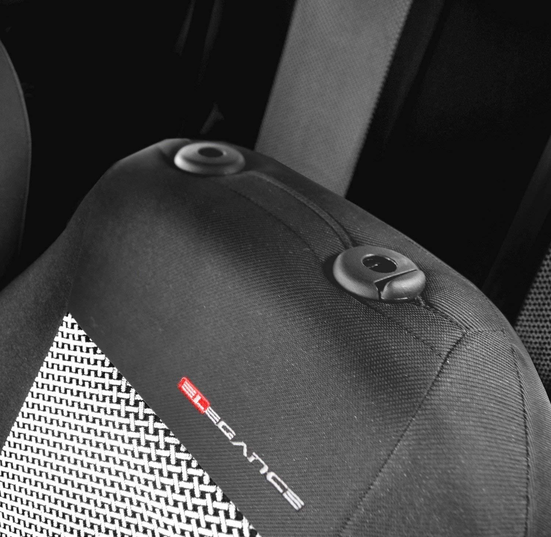 P4 Sitzbez/üge Auto universal Set Autositzbez/üge Schonbez/üge Dunkelgrau-Grau Vordersitze und R/ücksitze mit Airbag System