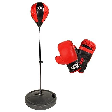 POWRX - Punching ball y guantes de boxeo para niño: Amazon.es ...
