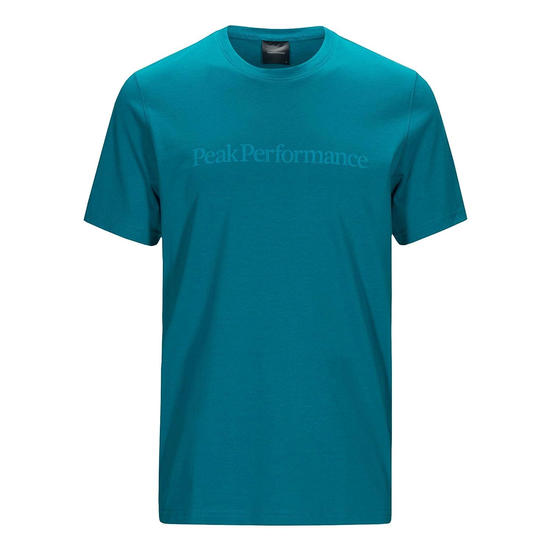 Peak Performance Track Tee Laufbekleidung T-Shirt Dunkelblau - Weiß 48