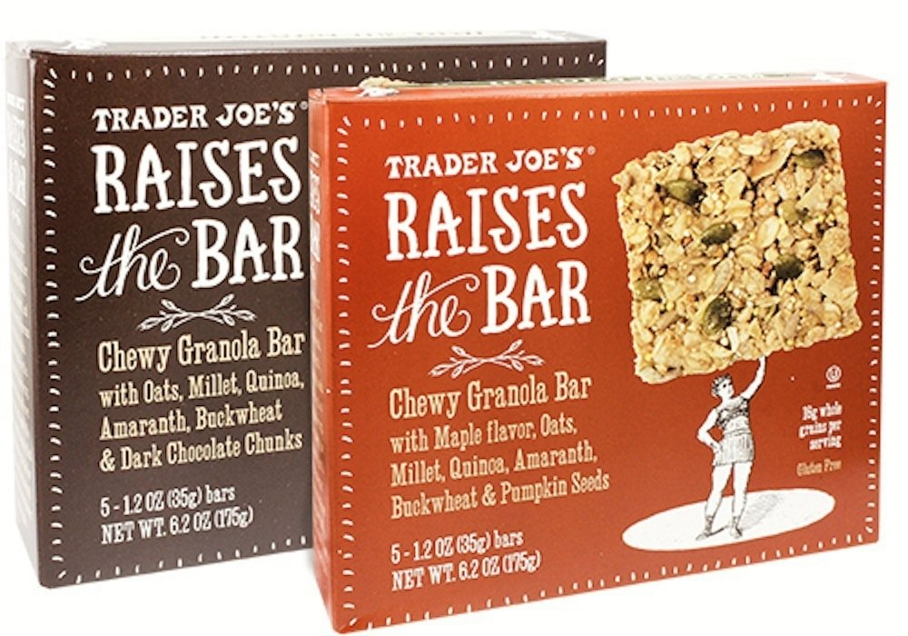 Trader Joe's Raises the Bar Gluten Free Chewy Granola Bars Variety Bundle: 2 Boxes - 1 Maple, 1 Dark Chocolate Chunk by Trader Joe's