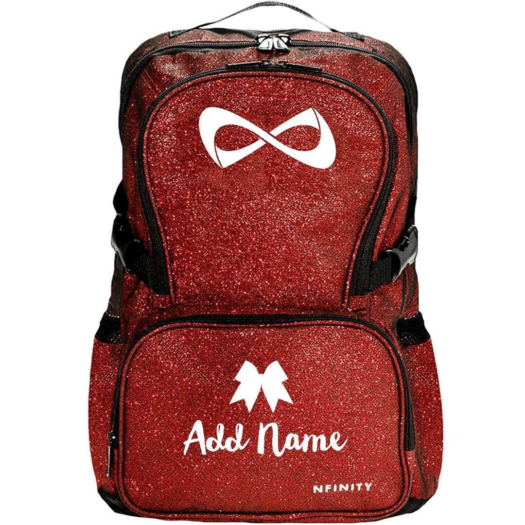 Custom Name Trendy Teen Cheer Gear: Nfinity Sparkle Backpack Bag by Customized Girl