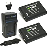 Wasabi Power Battery (2-Pack) and Charger for Nikon EN-EL23 and Coolpix B700, P600, P610, P900, S810C
