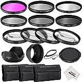 Neewer® 52MM Professionelle Komplette Objektiv-Filter Zubehörsatz für Nikon D3300 D3200 D3100 D3000 D5300 D5200 D5100 D5000 D7000 D7100 DSLR-Kamera, Set umfasst: (1) Filterset (UV, CPL, FLD) + (1) Makro Nahaufnahme Filter Set (+ 1, +2, +4, +10) + (1) Graufilter Set (ND2, ND4, ND8) + (1) 3-in-1 Faltbare Sonnenblende + (1) Tulpen Lichtblende + (1) Schnapp -on Objektivdeckel + (1) Kappe Wächter Leine + (3) Filter Tragebeutel + (1) Mikrofaser Reinigungstuch