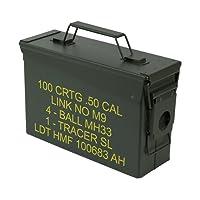 HMF 70010 Caisse de Munitions, Boîte à Munitions, US Army Box en Metal, 27,5 x 17,5 x 9,5 cm, vert