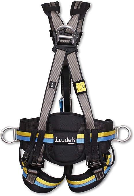 Irudek 100403400021 EXPERT PRO 300 | Arnés anticaídas (S/M), Gris, negro, amarillo y azul