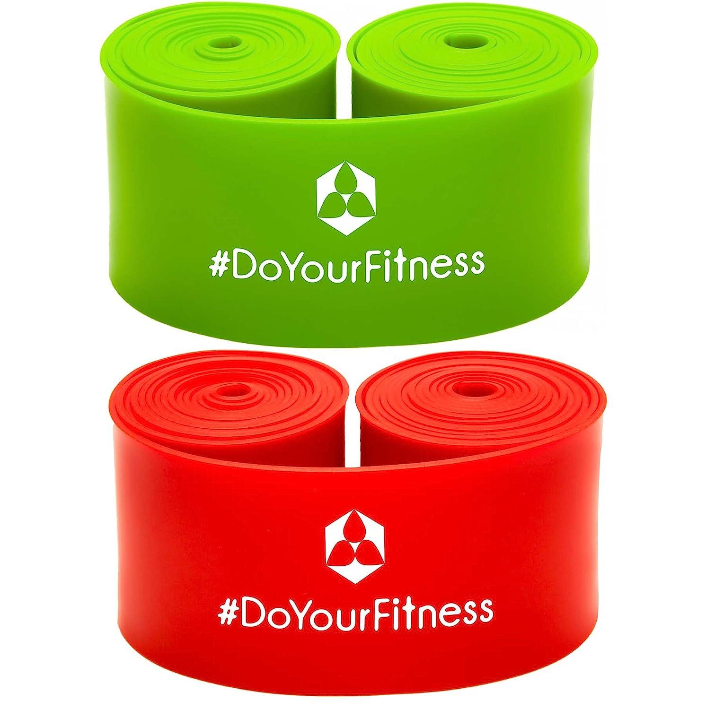 #DoYourFitness 2er Set Flossband »Herculexx« 0,8mm bis 1,2mm Stärke: Kompressions- und Widerstandsband zum Umwickeln der Muskeln und Gelenke, in Verschiedenen Stärken 9mm & 1 #DoYourSports