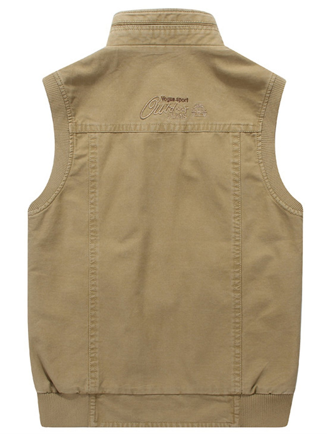 Gihuo Men's Reversible Cotton Leisure Outdoor Pockets Fish Photo Journalist Vest (L, Khaki) by Gihuo (Image #4)