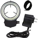 Vision Scientific VMLIFR-09X Adjustable 144 LED Ring Light (Black)