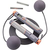 Jump Rope, Herui Adjustable Digital Counting Jump Rope with Exercise Cordless Ball and Weighted Handles, Speed Tangle…
