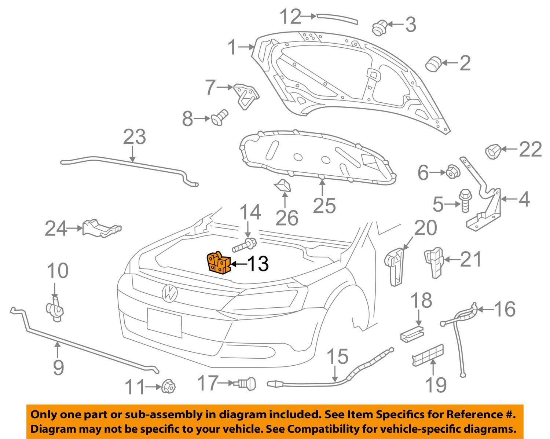 Genuine Lid lock front lhd VW Jetta Passat 162 163 A33 5U0823509H Volkswagen