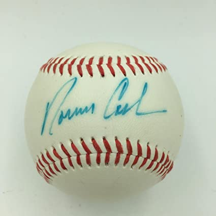e4f358c0b1c Image Unavailable. Image not available for. Color  Norm Cash Autographed  Baseball ...