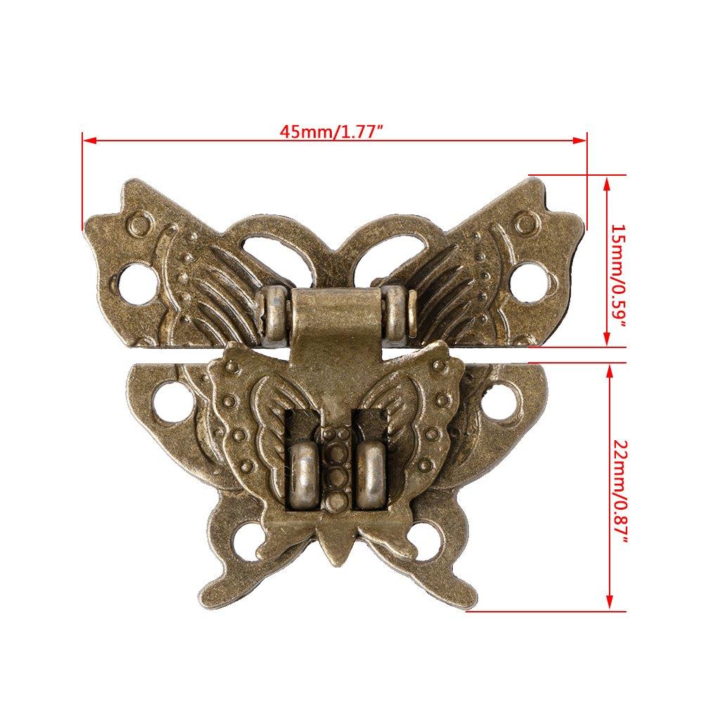 forma de mariposa 45/x 37/mm manyo 1/pieza Retro Hebilla de ganchos Caja Latch malet/ín de Lock Hook f/ácil de instalar.