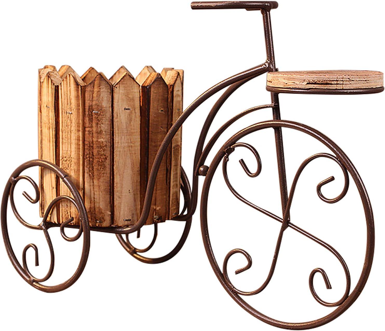 DIYARTS Bicicleta Soporte De Flores Hierro Forjado Decoración Artesanal Jardín Al Aire Libre Patio Canasta De Flores Olla Soporte De Exhibición para La Decoración De La Boda En Casa