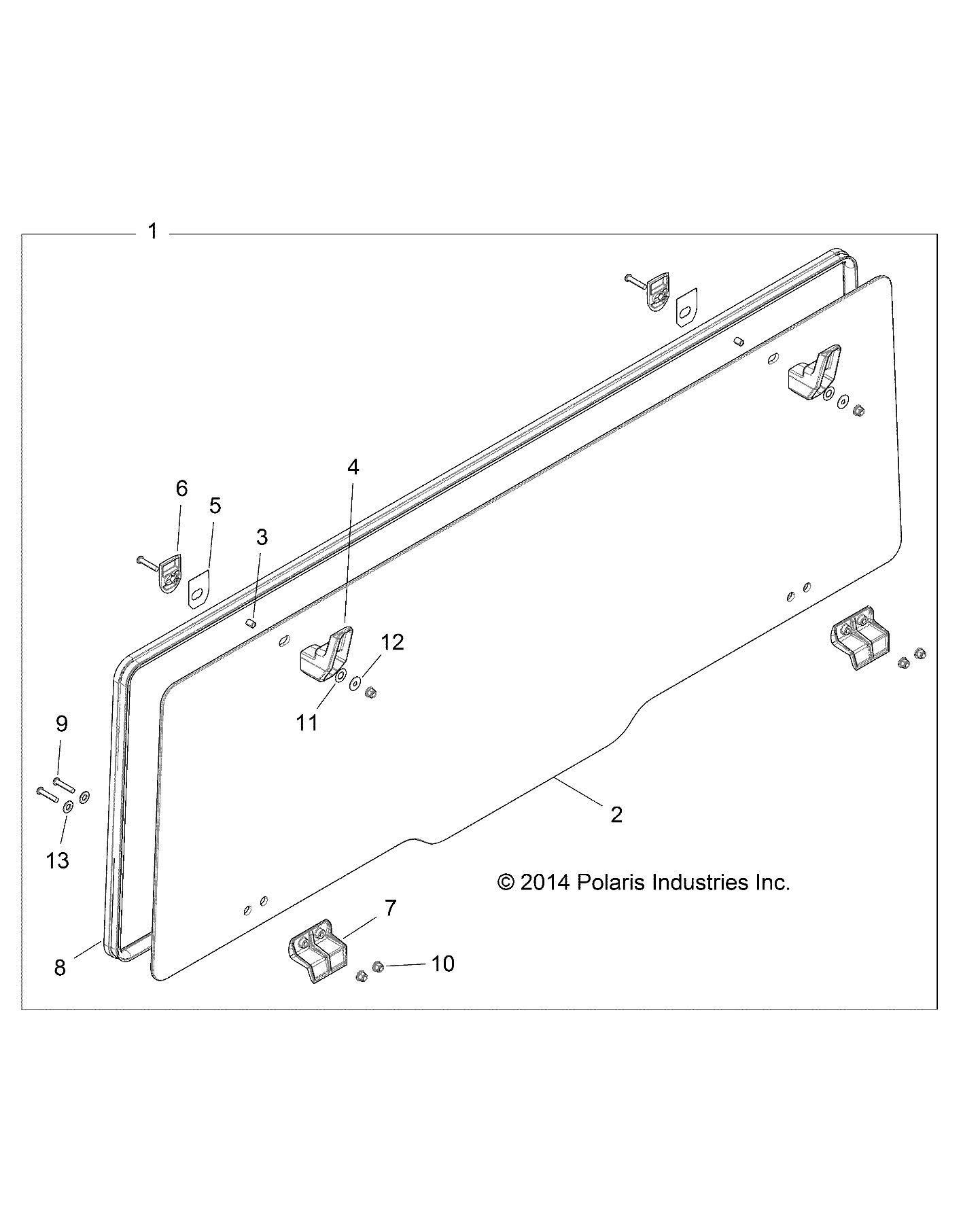 Polaris Pro Shield Glass Rear Panel with Lock & Ride Technology by Polaris