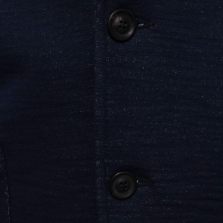 TONELLO 3501AB Giacca Uomo Blue Melange Cotton Knitted Jacket Man Blu Melange wZ8VB