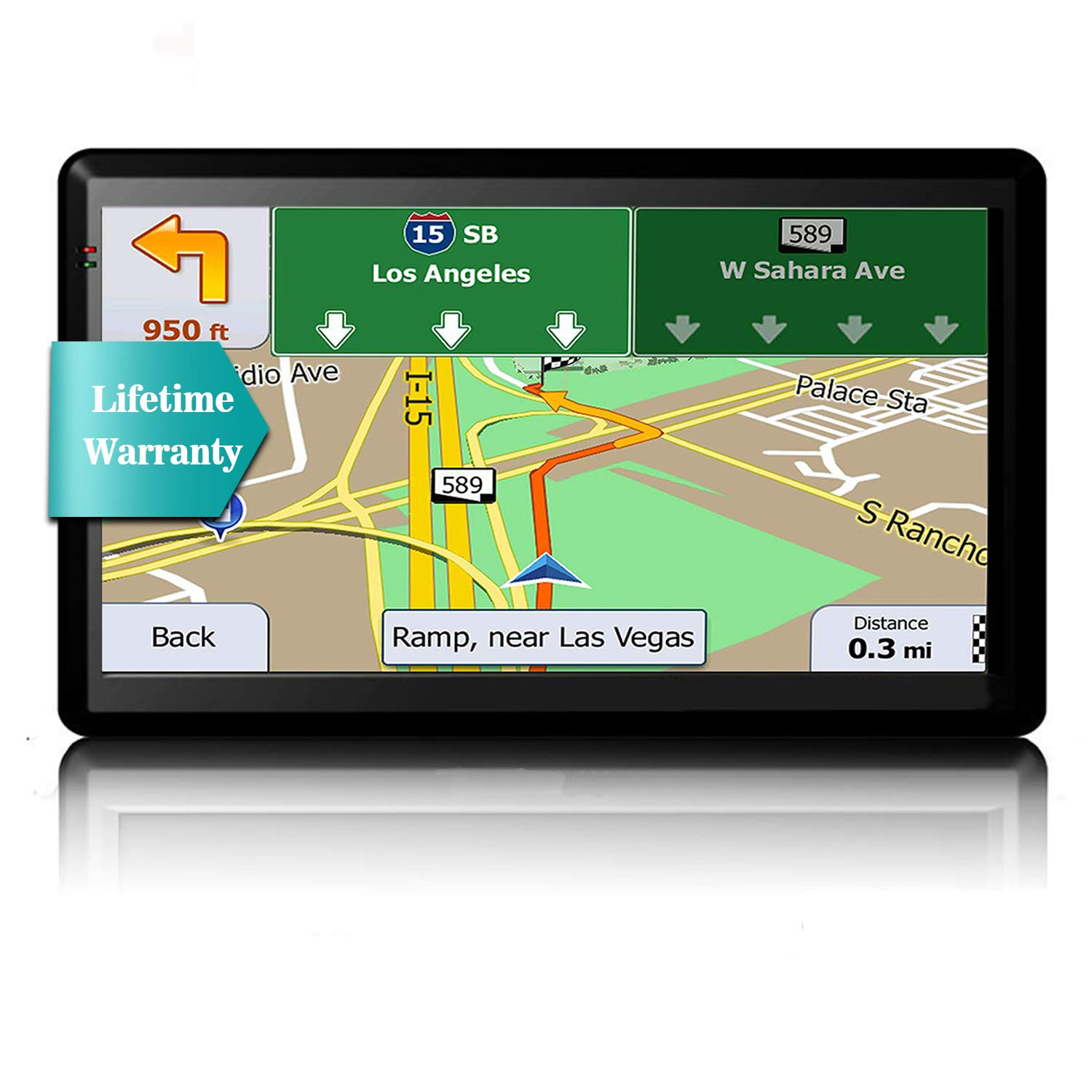 GPS Navigation for Car, 2019 Map, 7-Inch Touch Screen Real Voice Direction GPS Navigation System with Lifetime Map Update