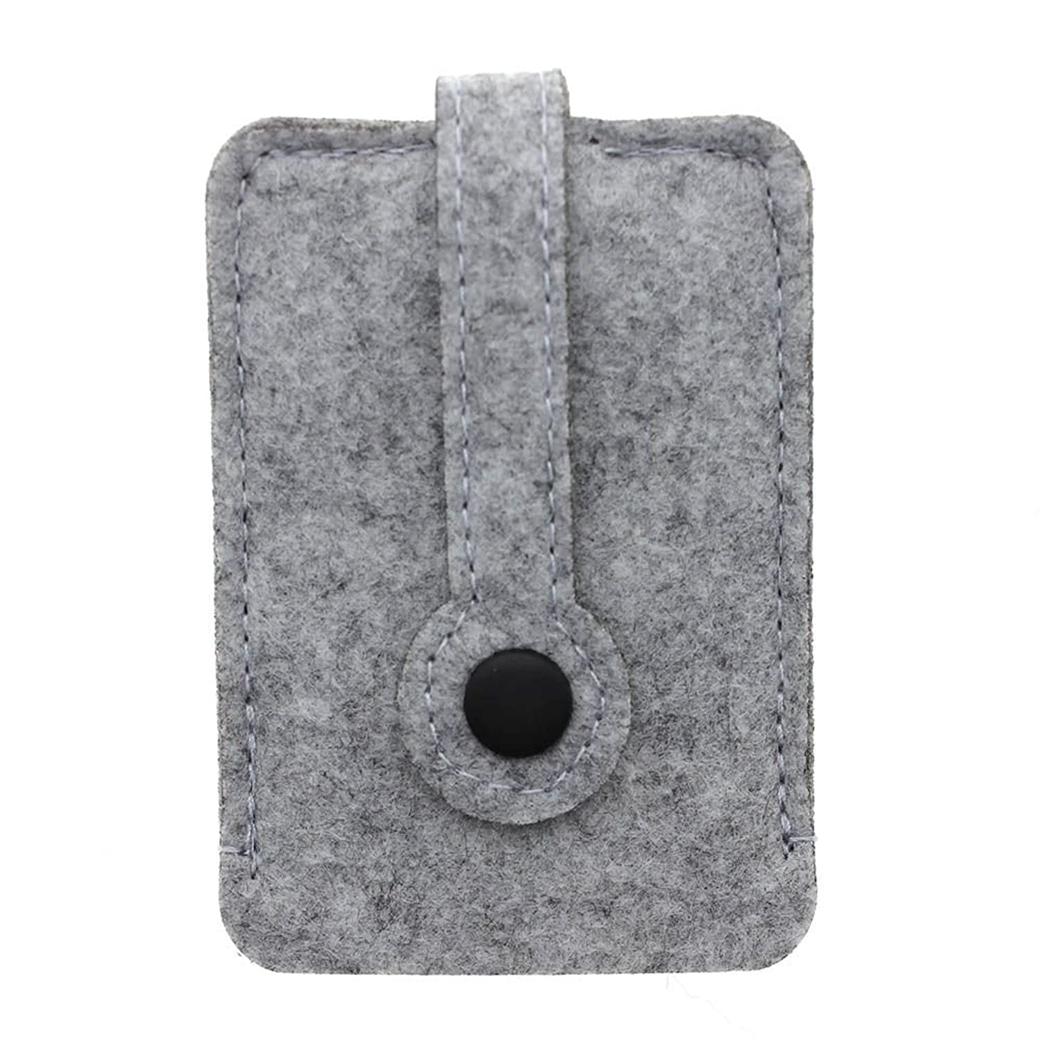 Fashion Woolen Felt Car Key Chain Wallet Compact Holder Purse Cover Organizer Color: Light gray