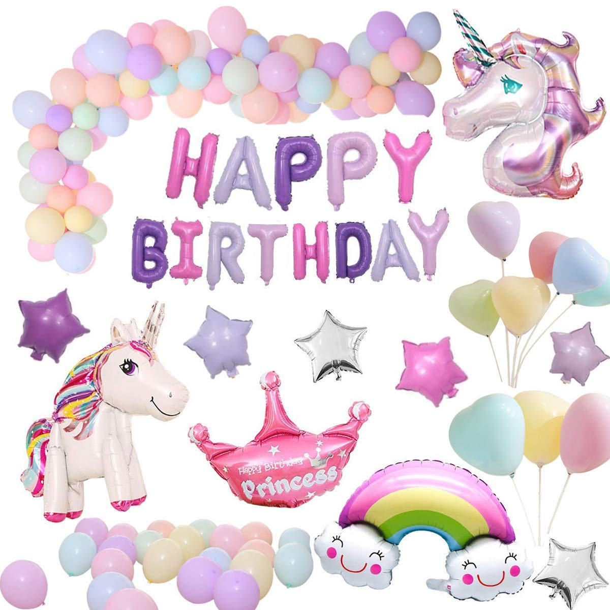 Unicorn Party Supplies, Unicorn Themed Party Favors Birthday Party  Decorations, Unicorn Balloons