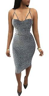 Sommer Kleider Damen Sexy Schlinge Rückenfrei Knielang Kleid Trägerkleid  Fashion Einfarbig Etui Kleider Bleistiftkleid Partykleid Cocktailkleid 80461f677e