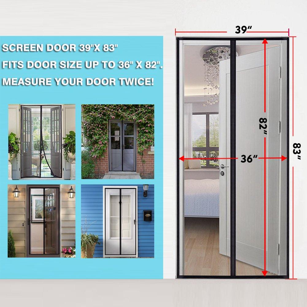 Magnetic Screen Door Fiberglass Mesh Screen Door With Magnets Fly